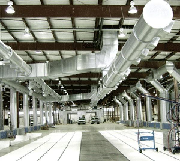 Промышленная вентиляция, вне